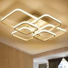 Novo led lustres de luz para sala estar jantar cozinha quarto casa moderna retângulo luzes teto da lâmpada luminárias