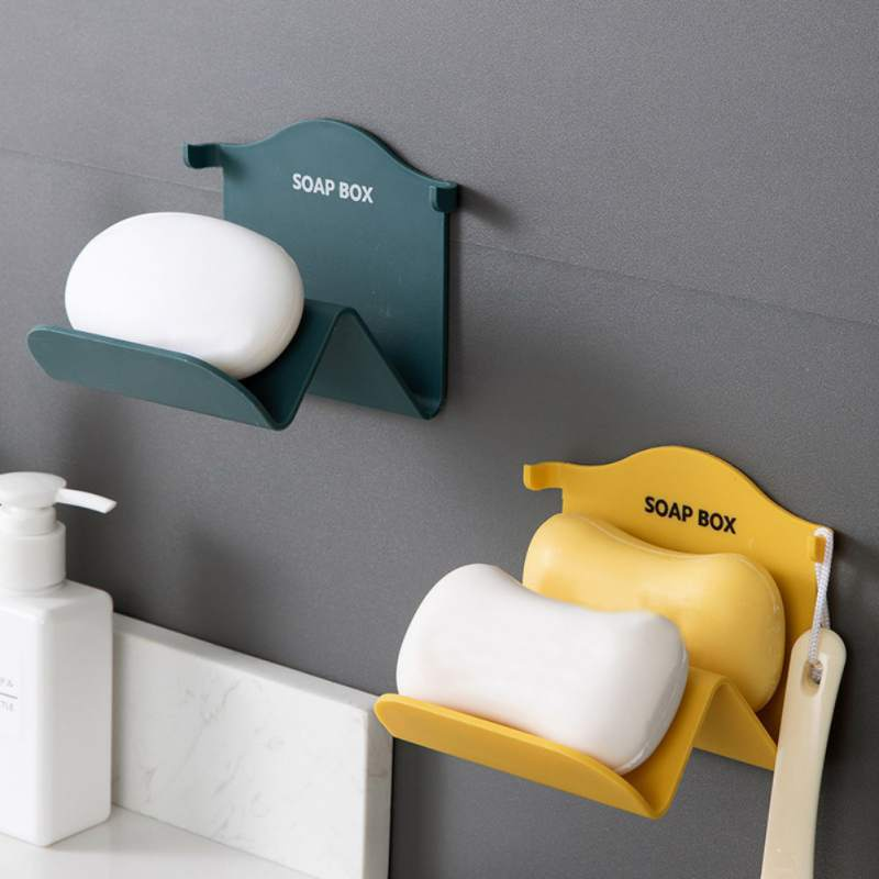 Creative Soap Boxes Bathroom Wall Mounted Soap Holder Household Drain Soap Dishes