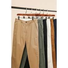 SIMWOOD – pantalon droit à coupe régulière pour hommes, 2021 coton sergé, lavage enzyme, classique, nouvelle collection printemps été 100%, SJ170995
