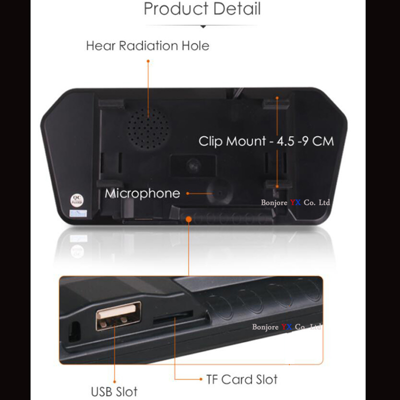 Koorinwoo HD 1024P Für Sony Video System Parkplatz Monitor Spiegel Media Bluetooth USB SD Musik Player Rück Camaera Parkplatz