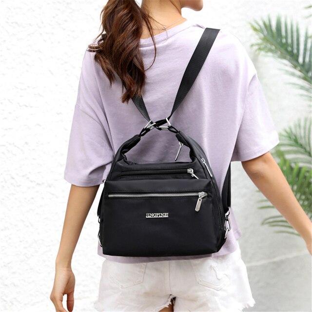 2020 Fashion Woman Shoulder Bag Nylon Waterproof Multi-pocket Messenger Bag Solid Zipper Multifunctional Travel Handbag Purses 3