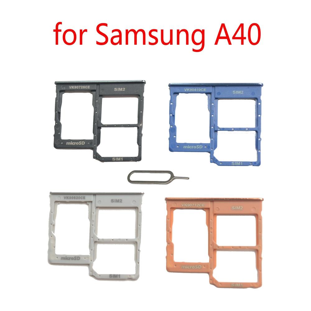 Phone SIM Card Holder Slot For Samsung Galaxy A40 A405 A405F A405FN A405FM Original Nano SIM Micro SD Card Tray Adapter(China)