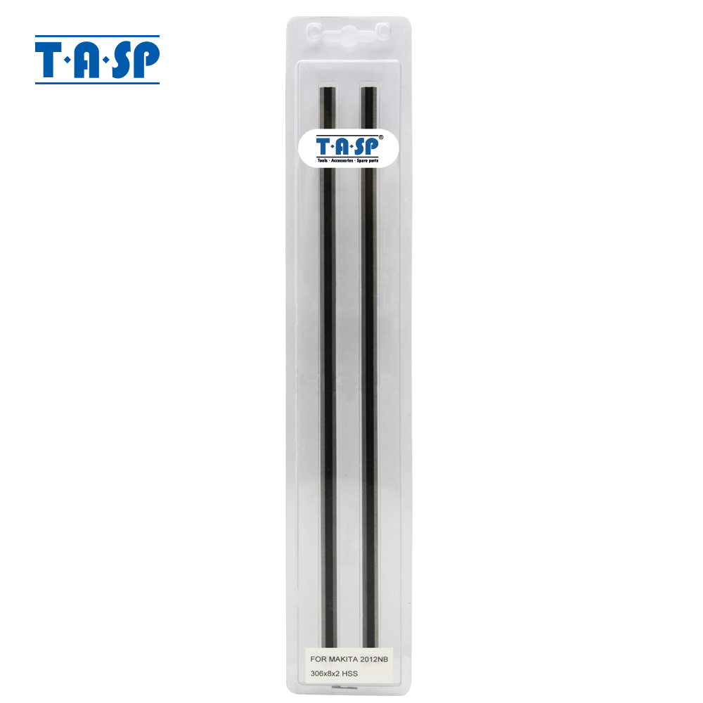 "TASP 12 ""HSS Thickness Planer Blades 305x8x2mm چاقوی چوبی برگشت پذیر 793346-8 برای Makita 2012NB - MTPB306MD"