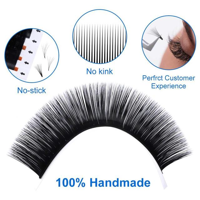Russian Volume Fans 25MM Easy Fanning Lashes Soft Premade Faux Mink Premade Super Long Eyelash Extensions Makeup Cilios 6