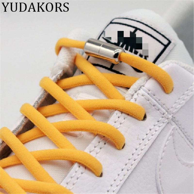 Unisex Elastic No Tie Shoelaces Semicircle Shoe Laces Sneakers Shoelace Quick Lazy Person Capsule Metal Lock Laces Shoe Strings
