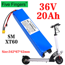 36 в 20 Ач 18650 литиевый аккумулятор 10S3P 20000 мАч 250 Вт-500 Вт один порт 42 в электрический скутер M365 электровелосипед аккумулятор с BMS