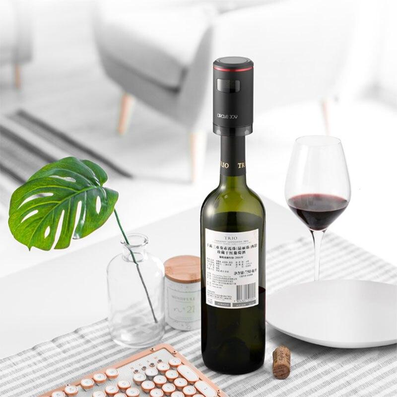 Xiaomi Mijia cercle joie automatique vide conservation du vin bouchon vin rouge frais gardien USB charge avec affichage de LED - 3