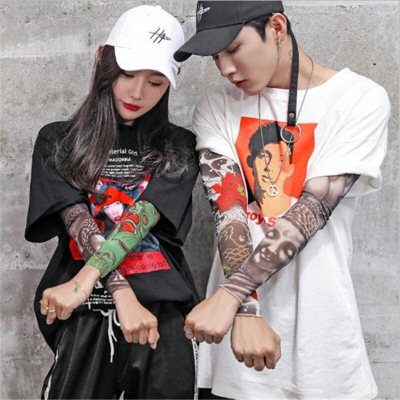 2 Pcs New Fashion Tattoo Sleeve Warmer Unisex UV Protection Outdoor Temporary Fake Arm Sleeves Tattoo Warmer Sleeve Mangas