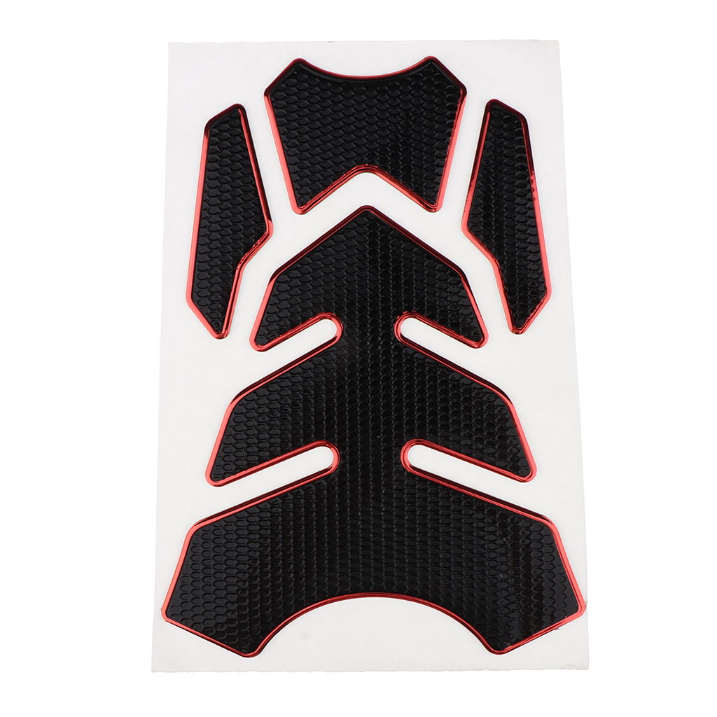 Carbon Fiber Look Tank Pad Motorcycle Fuel Tank Pad Gas Cap Sticker Decals Protector Universal Fitment For Motorcycle