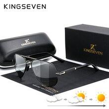 KINGSEVEN 2020 Aluminum Photochromic Polarized Sunglasses Men Aviation Driving Glasses Driver Goggles Oculos De Sol Masculino