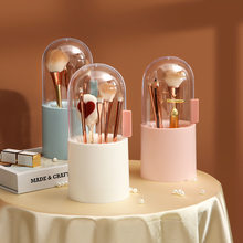 Pearl Cosmetic Brush Holder Transparent Acrylic Cosmetic Brush Container Dustproof Beauty Makeup Tools Organizer Pen Storage Box
