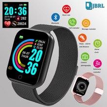 Fashion Steel Smart Watch Men Women Bluetooth Smartwatch Ladies Fitness Bracelet Heart Rate Android IOS Phone Mens Smart clock