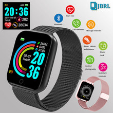 Mode Stahl Smart Uhr Männer Frauen Bluetooth Smartwatch Damen Fitness Armband Herz Rate Android IOS Telefon Herren Smart uhr