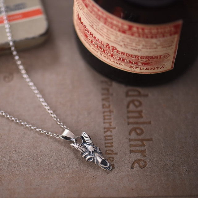 925 STERLING SILVER SHEEP SKULL NECKLACE