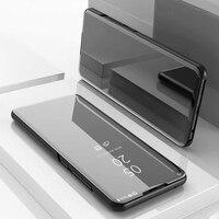 Per Xiaomi Mi Della Miscela 2 3 Caso di Vibrazione Del Basamento View Mirror Caso Xiao MiMix3 Caso di Cuoio Della Copertura per Xiaomi Mi miMix2 Mix3 Note3 Sacchetti Del Telefono