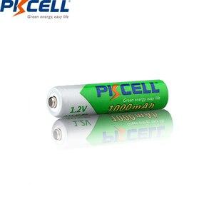 Image 5 - Baterias recarregáveis aaa da descarga do auto das baterias até to1200ciclo baterias recarregáveis do aaa da bateria de 12 pces pkcell 1.2v aaa 1000mah ni mh