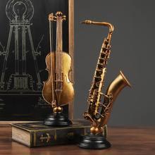 Accessoires de décoration pour la maison, art décoratif, modèle de violon, artisanat, salon, armoire à vin, ornements de bureau, Figurine, cadeau