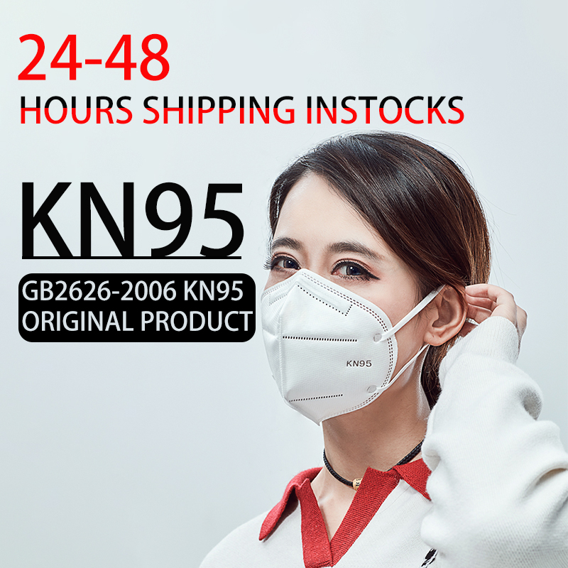 100pcs 10pcs  KN95 Dustproof Anti-fog And Breathable Face Masks 95% Filtration N95 Masks Features As KF94 FFP2