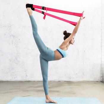 Portable Yoga Belt Fitness Splits Leg Elastic Dance Stretch Resistance Band Yoga Belt Training With Buckle Adjustable Length 8