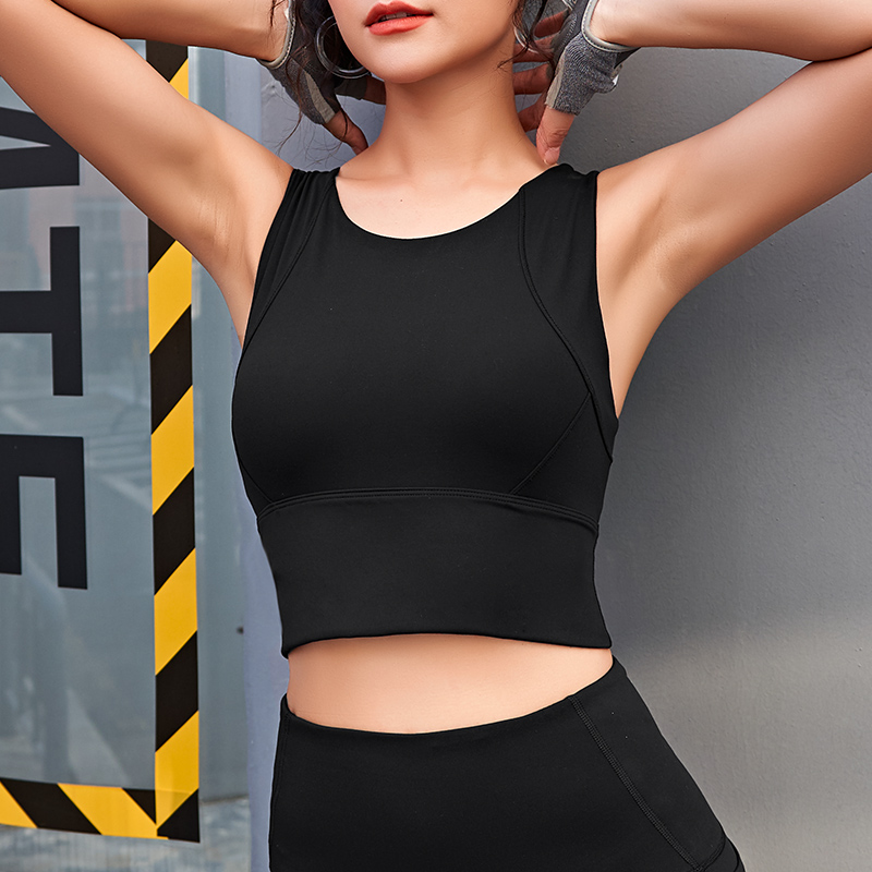 Sports Bra Crop Tops For Women Gym Running Yoga Wokrout Dancing High Impact Breathable Activewear Top Femmle Street Wear