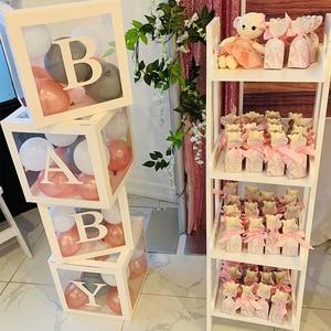 DIY Letter Transparent Balloon Gift Box Birthday Christmas Decor For Home Gender Reveal Party Decor Baby Shower Wedding Decor