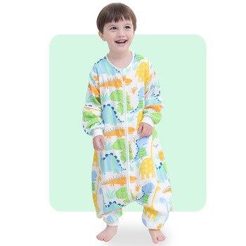 Newborn Baby Sleeping Bag Cotton Spring Summer Boys Girls Sleepsack Baby Sleeping Gown Infant Sleep Sack With Legs 4 Layers