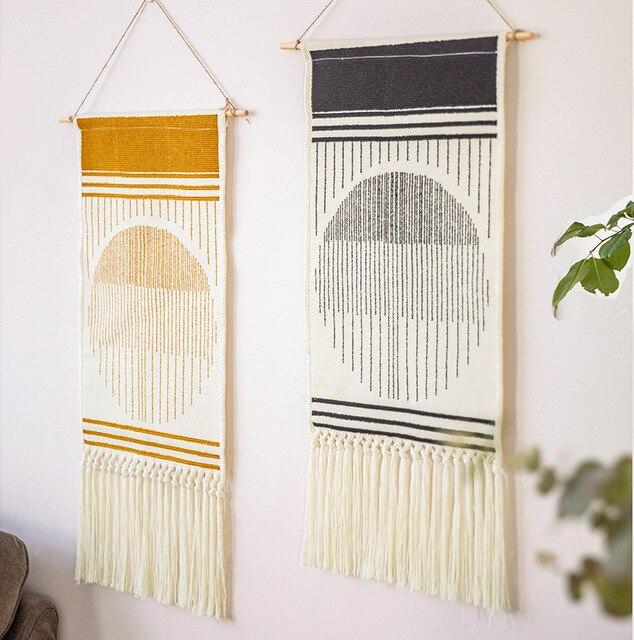 Home Boho Tasseled Tapestry 1