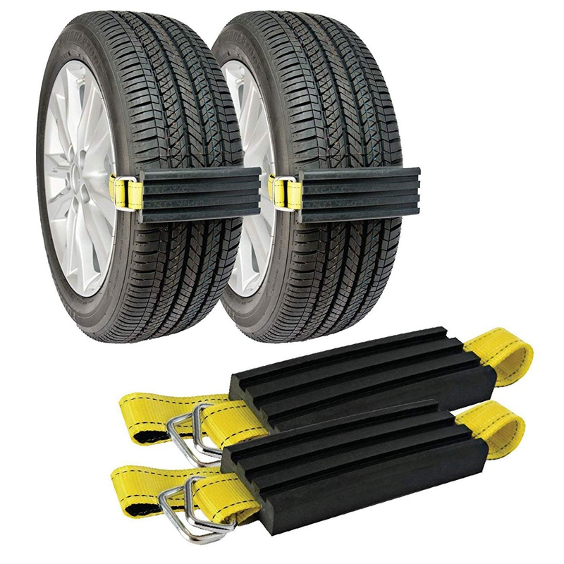 Snow Anti Skid Tire Blocks , Mud and Sand Tire Traction Device, -for Trucks, SUVs and Cars and Small SUVs, Easy to Install Set