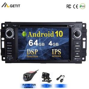 Android 10 For Jeep Cherokee Compass Commander Wrangler/DODGE Caliber/Chrysler C300 SWC Car Radio DVD Player GPS NAVIGATION(China)