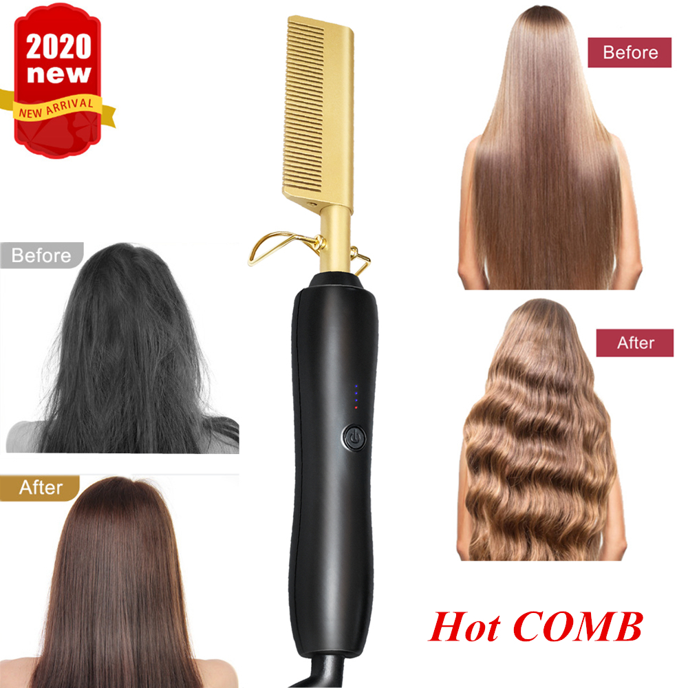 Hot Comb Straightener Eletric Hair Curling Iron Environmentally Friendly Titanium Alloy Hair Straightening Flat Iron Hair Curler