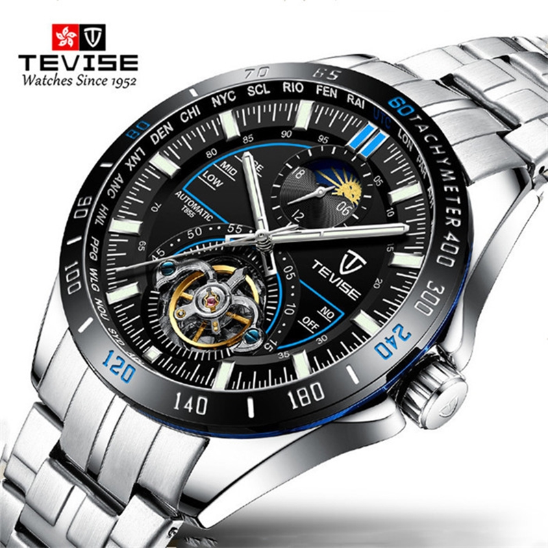 TEVISE Mens Watches Automatic Mechanical Watches M