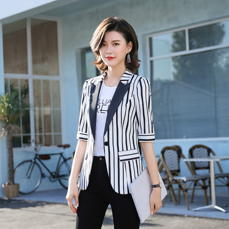 Fashion ladies high quality small blazer 2020 new spring and summer casual ladies jacket Office interview suit feminine
