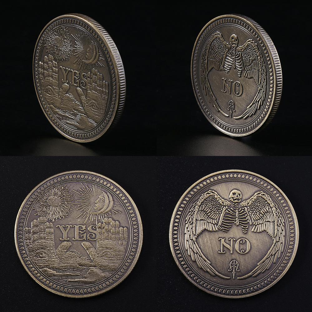 Bronze sim não comemorativa moeda lembrança desafio colecionáveis moedas coleção arte artesanato presente