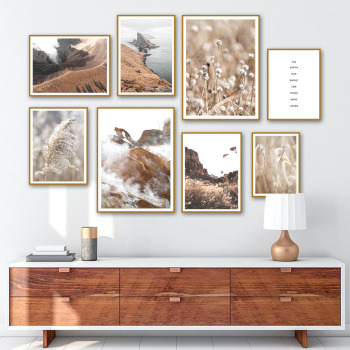 Zion National Park Islands Mountain Reed Wall Art Canvas Painting Nordic Posters And Prints Wall Pictures For Living Room Decor image
