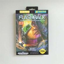 Flashback funda de EE. UU. Con caja de venta al por menor, tarjeta de juego MD de 16 bits para consola Sega Megadrive Genesis