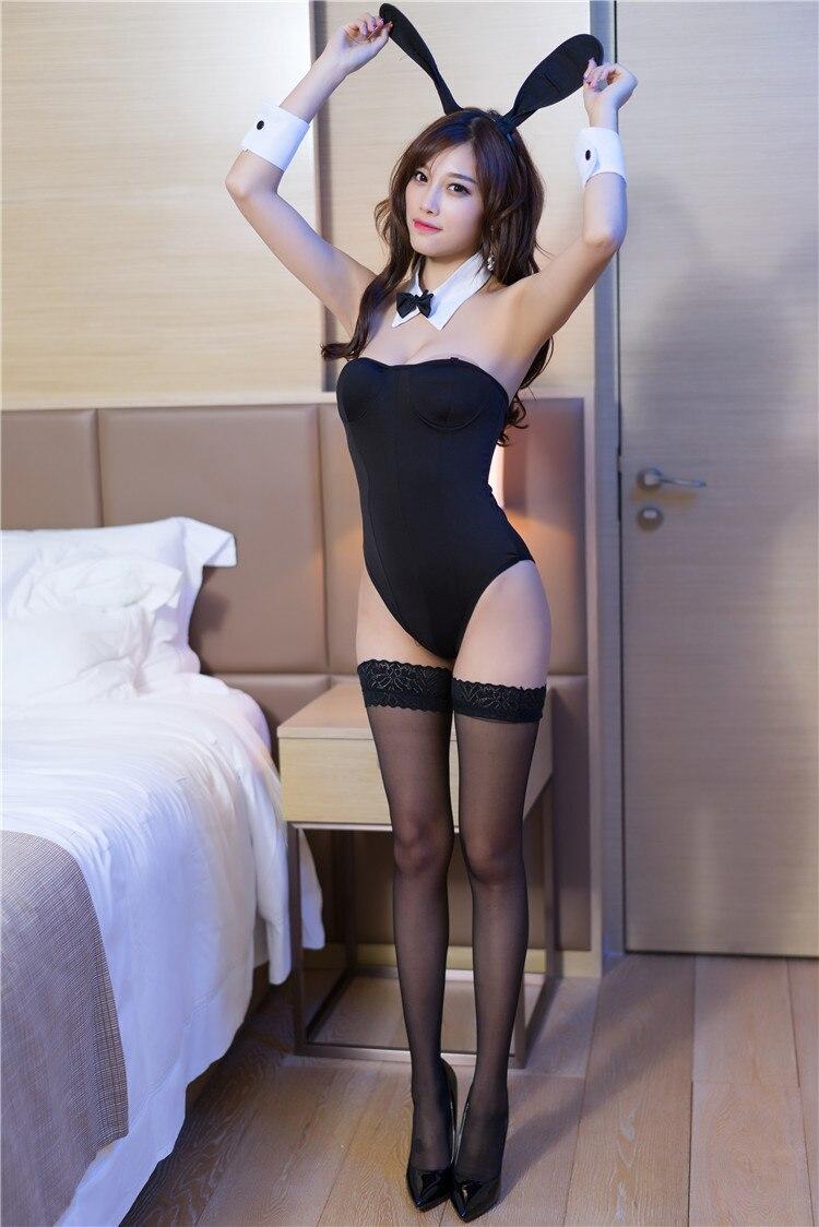 HOT 2020 Rabbit Girl Lingerie Bunny Costume For Role Plays Women Sexy Bunny Cosplay Bodysuit Set Underwear Leotard