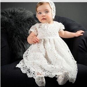 Платья для новорожденных девочек на свадьбу, день рождения, Крещение, для маленьких девочек, Vestido, кружевное платье-пачка, платье принцессы д...