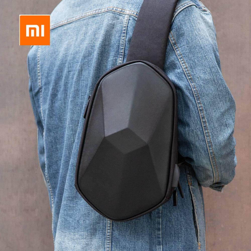 Xiaomi tajezzo Poliedro DELL'UNITÀ di ELABORAZIONE Dello Zaino Borsa USB Impermeabile Colorato Petto Pack Borse Sportive Per Il Tempo Libero Per Le Donne Mens di Viaggio di Campeggio