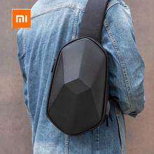 Xiaomi tajezzo Polyhedron PU Backpack USB Bag Waterproof Colorful Leisure Sports Chest Pack Bags For Mens Women Travel Camping