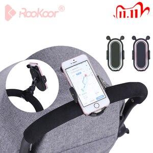 Image 1 - Rk 360 gradi ruota accessori passeggino supporto universale staffa di montaggio regolabile supporto per cellulare nero bianco rosa