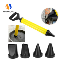 Plastic Caulking Gun Cement Lime Pump Grouting Mortar Sprayer Applicator Grout with 4 Replaceable Nozzles Filling Tools