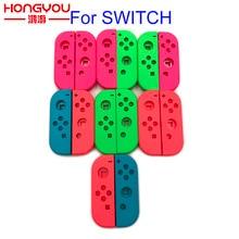 Laranja roxa para nintend interruptor joy con substituição habitação escudo para ns joycon capa para nx joy con controlador caso