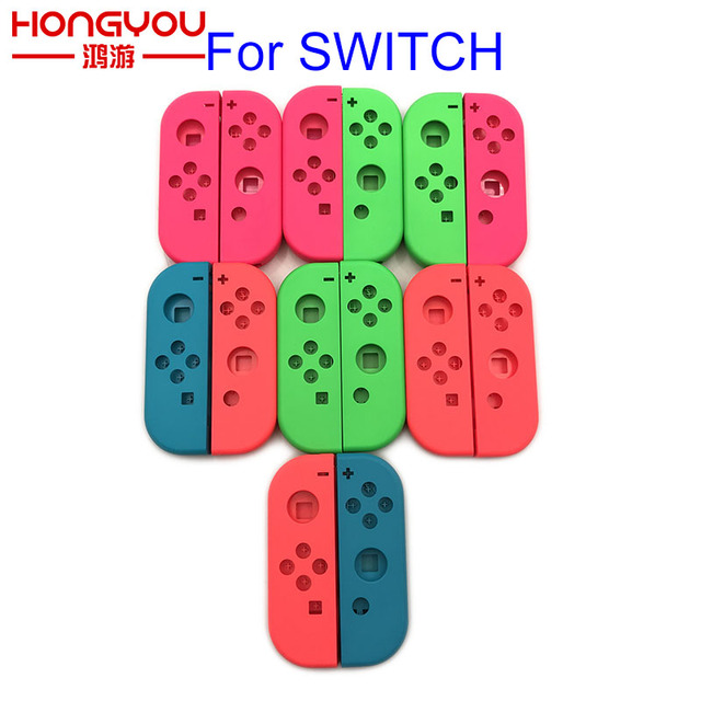 Mor turuncu nintendo anahtarı Joy Con için yedek konut kabuk NS JoyCon kapak NX için Joy Con kumanda muhafazası