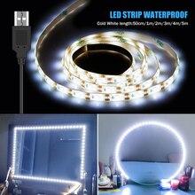 USB макияж зеркало светильник 1 м 2 м 3 м 4 м 5 м светодиодный Голливуд Vanity светильник s 5V Водонепроницаемый светодиодный туалетный столик, лампа ...
