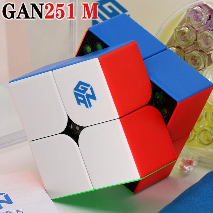 Magic Cube Puzzle GANCUBE Magnetic Magnet GAN 251 M 2x2x2 2x2 Stickerless GAN251 M Professional Speed Cube