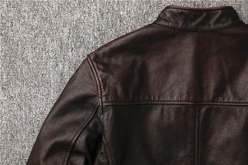 H43d5bc5904db4a4ea40912870001eba5U Classic motor style,vintage genuine leather Jacket,fashion men brown Leather coat,street biker coat,sales