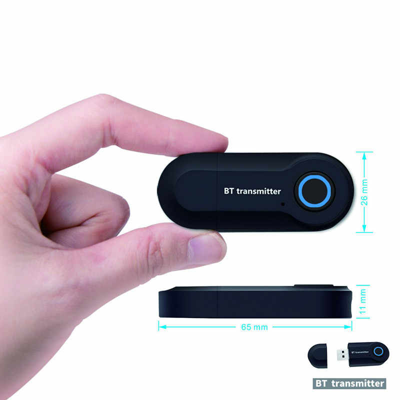 Nadajnik Bluetooth 3.5MM Jack adapter Audio bezprzewodowy Bluetooth 4.0 Stereo Audio nadajnik z adapterem do słuchawek TV