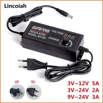 Adjustable AC to DC 3V-12V 3V-24V 9V-24V Universal adapter with display screen voltage Regulated power supply adatpor 3 12 24 v
