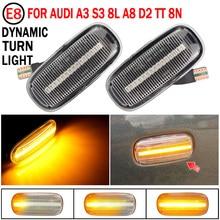 2Pcs LED ด้านข้าง Fender แบบไดนามิกไฟเลี้ยว Marker โคมไฟสำหรับ Audi A3 S3 8L 2000 2003 A8 d2 1999 2002 TT 8N 2000 2006