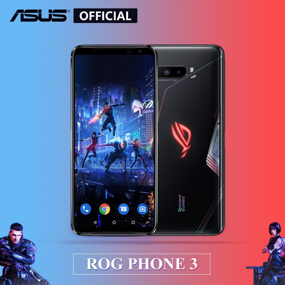 Rom global asus rog 3 telefone 5g smartphone snapdragon 865/865plus 128gb 6000mah nfc android q 144hz fhd + telefone de jogos amoled rog3